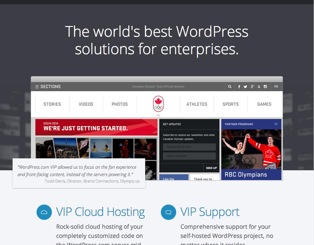 WordPress VIP, servicio completo de hosting WordPress para grandes empresas.