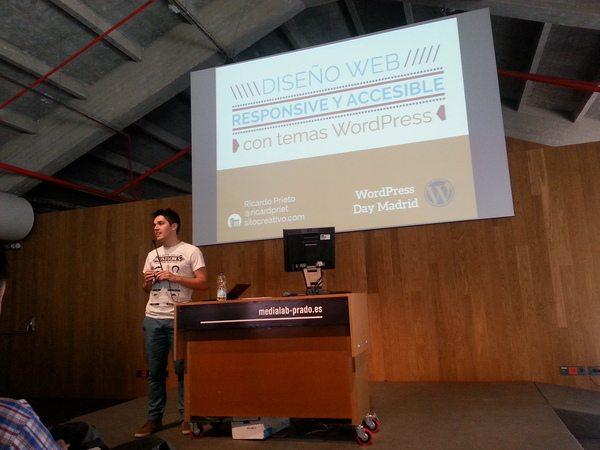 Ricardo Prieto en el WordPress Day de Madrid