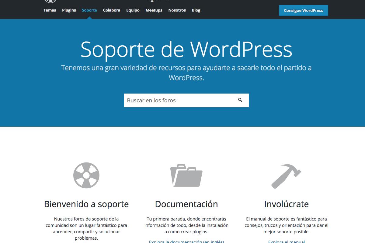 Soporte de WordPress