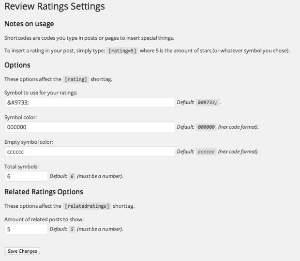 Review ratings 7