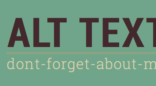 Importancia del atributo Atl en imágenes