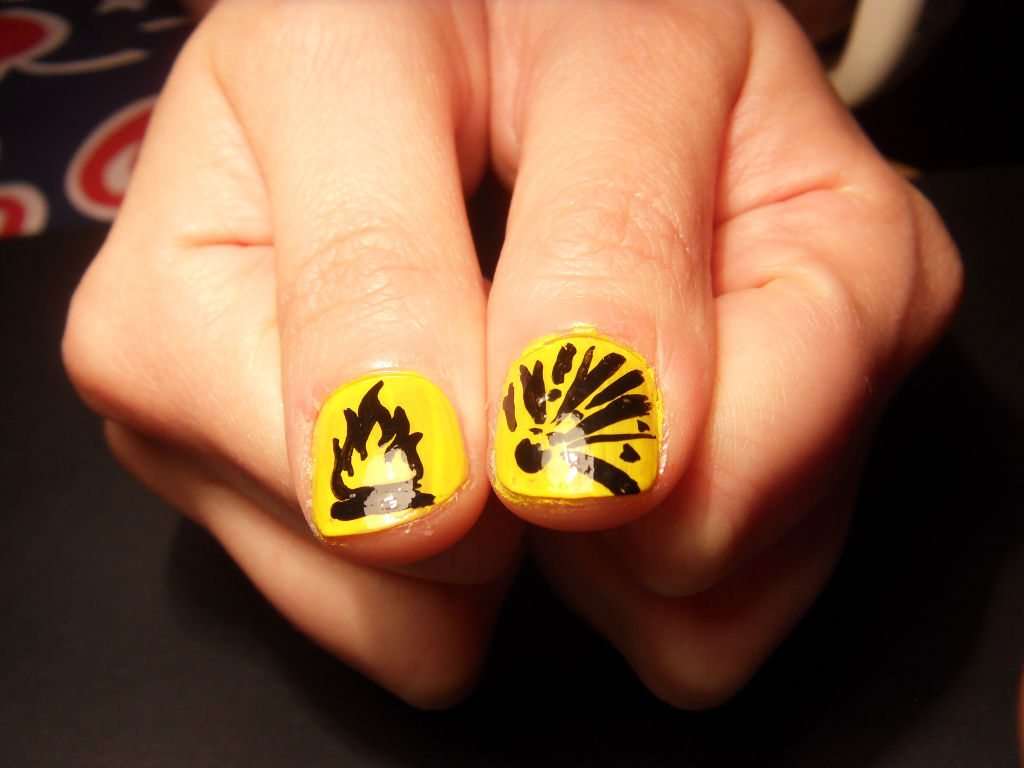 Hazard! Freehand Nail Art de Neil Milne