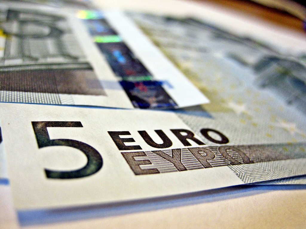 Billetes de 5 euros de Images Money