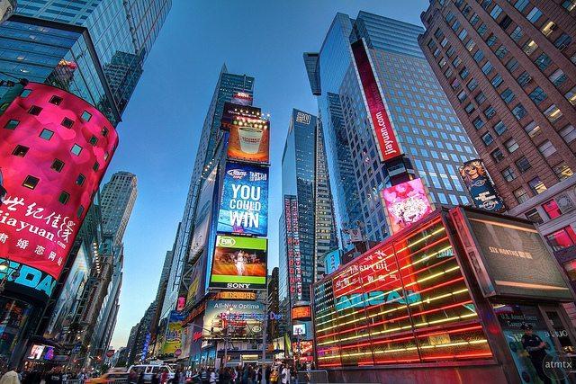 Publicidad en Times Square. ¡Casi nada! Imagen de Andy