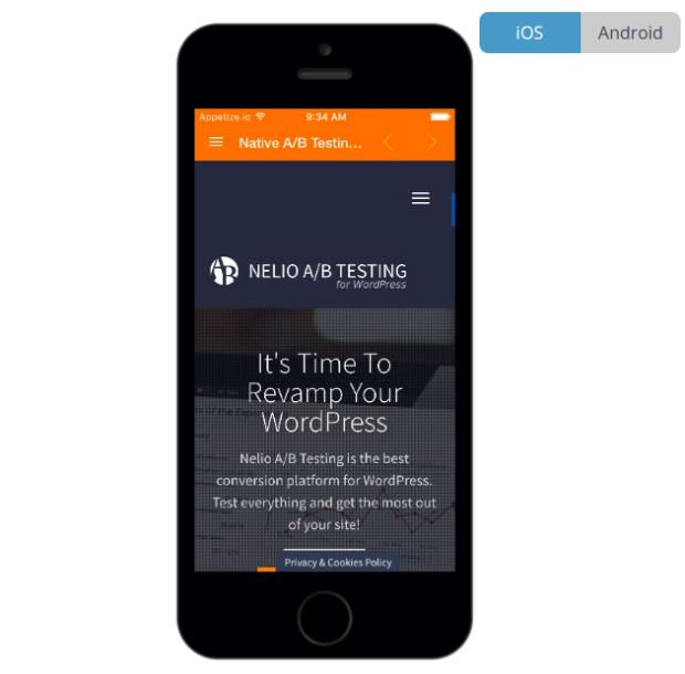 Una web dentro de la app