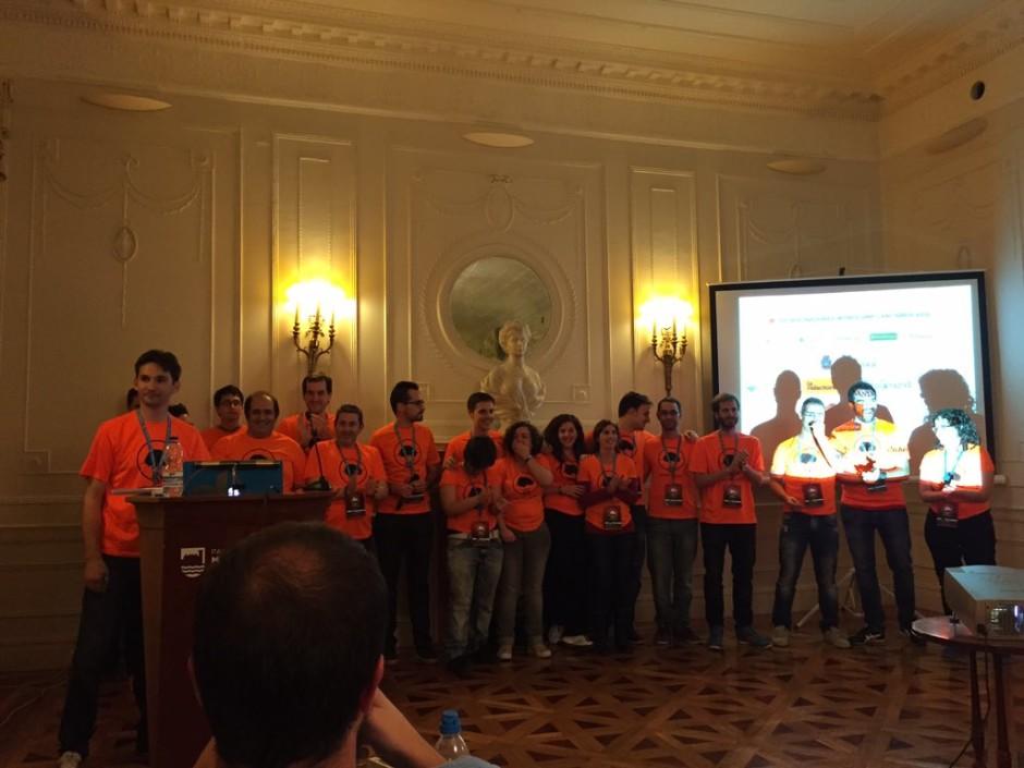 Equipo de voluntarios de la WordCamp Cantabria 2015.