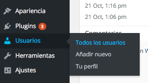 Opción mostrar Todos los Usuarios