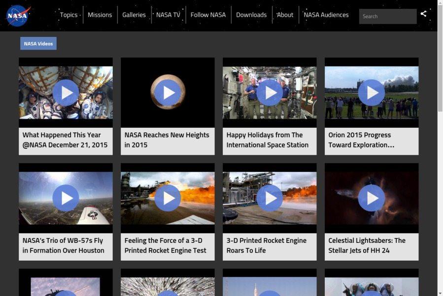 Nasa Multimedia Video Gallery