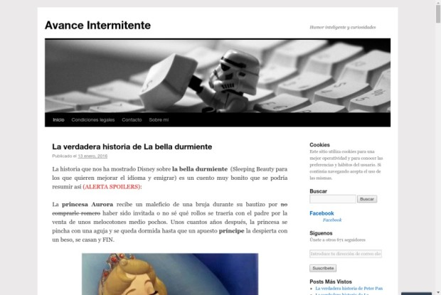 Web de Avance Itermitente