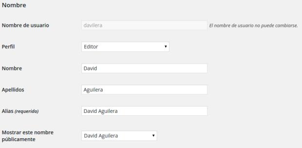 Captura de pantalla del usuario davilera