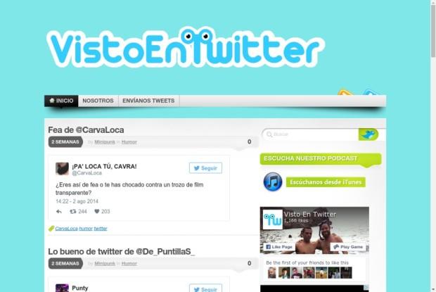 Web de Visto En Twitter