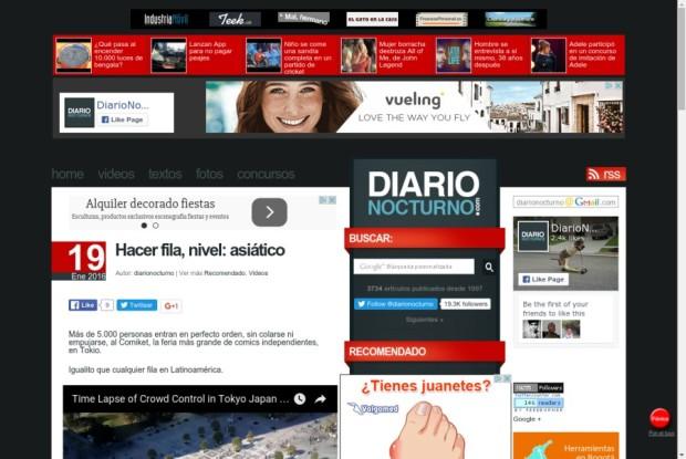 Web de Diario Nocturno