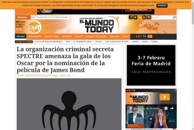 Web de El Mundo Today