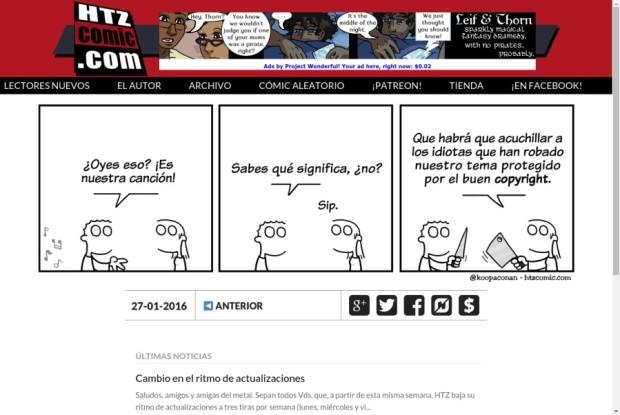 Web de HTZ Comic