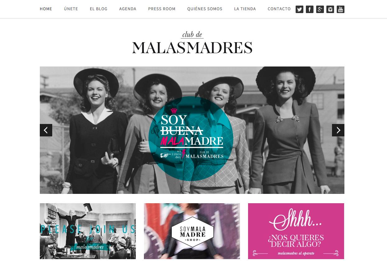 Web de Club de las Malas Madres