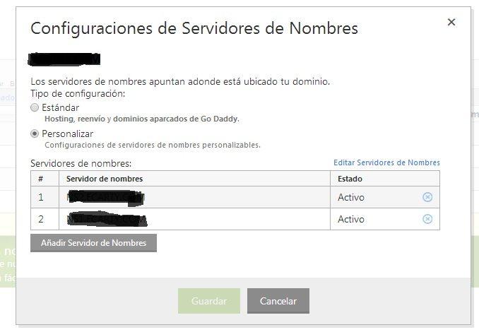 Añadir servidor de dominio