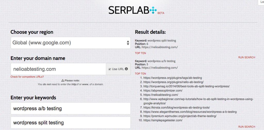 Ranking de Nelio AB Testing