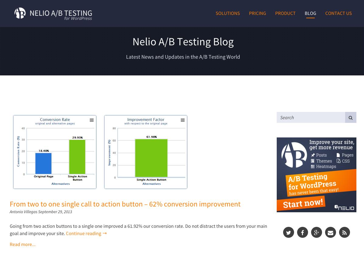 Una de las primeras entradas publicadas en Nelio A/B Testing