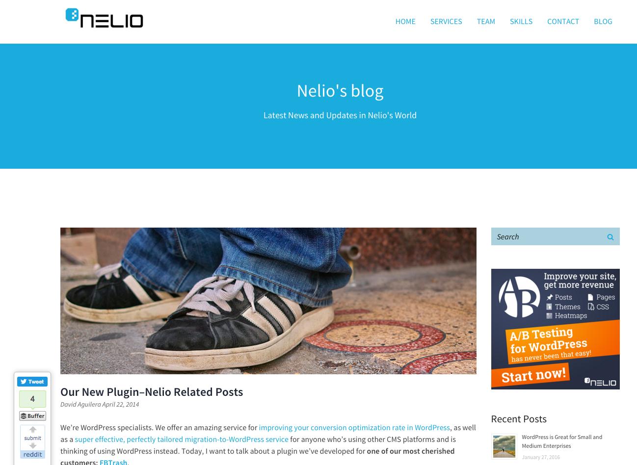 Entrada publicada en abril del 2014 en el Blog de Nelio Software