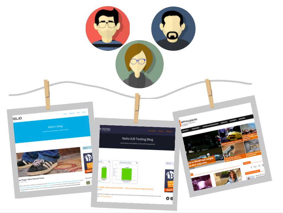 El equipo de Nelio y sus tres blogs