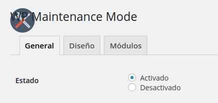 Activar WP Maintenance Mode