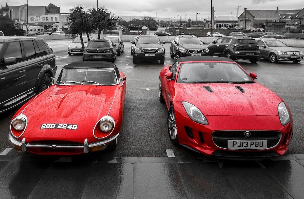 Jaguar viejo y nuevo