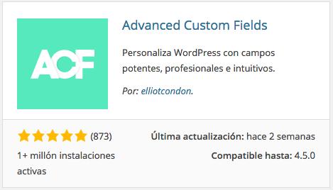 Plugin Advanced Custom Fields