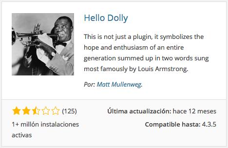 Plugin Hello Dolly