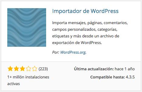 Plugin Importador de WordPress