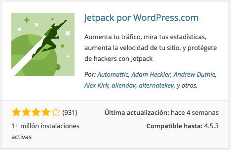 Plugin Jetpack por WordPress