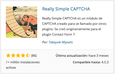 Plugin Really Simple CAPTCHA