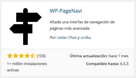 Plugin WP-PageNavi