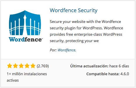 Plugin Wordfence Security