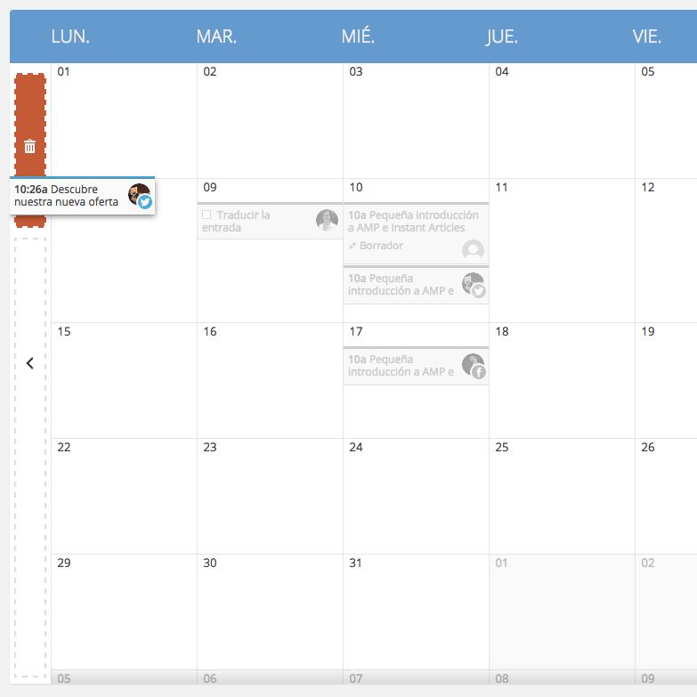 Arrastrar y Soltar en el Calendario