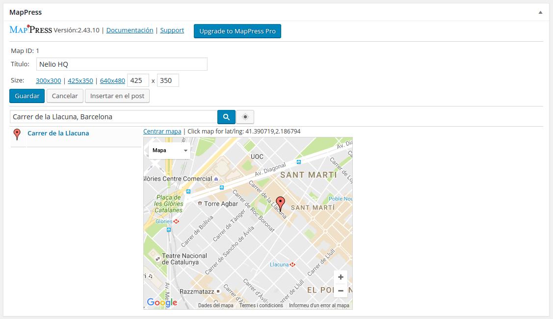 Creación de mapas con MapPress