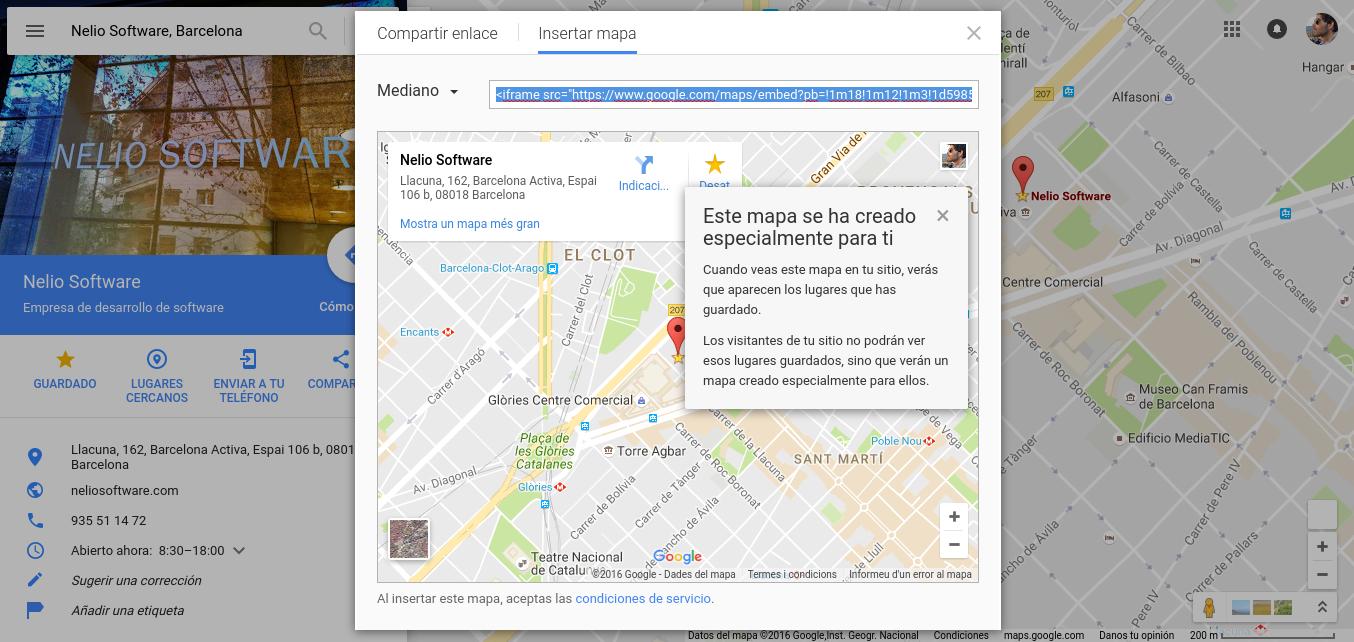 Creación de mapas con la propia web de Google Maps