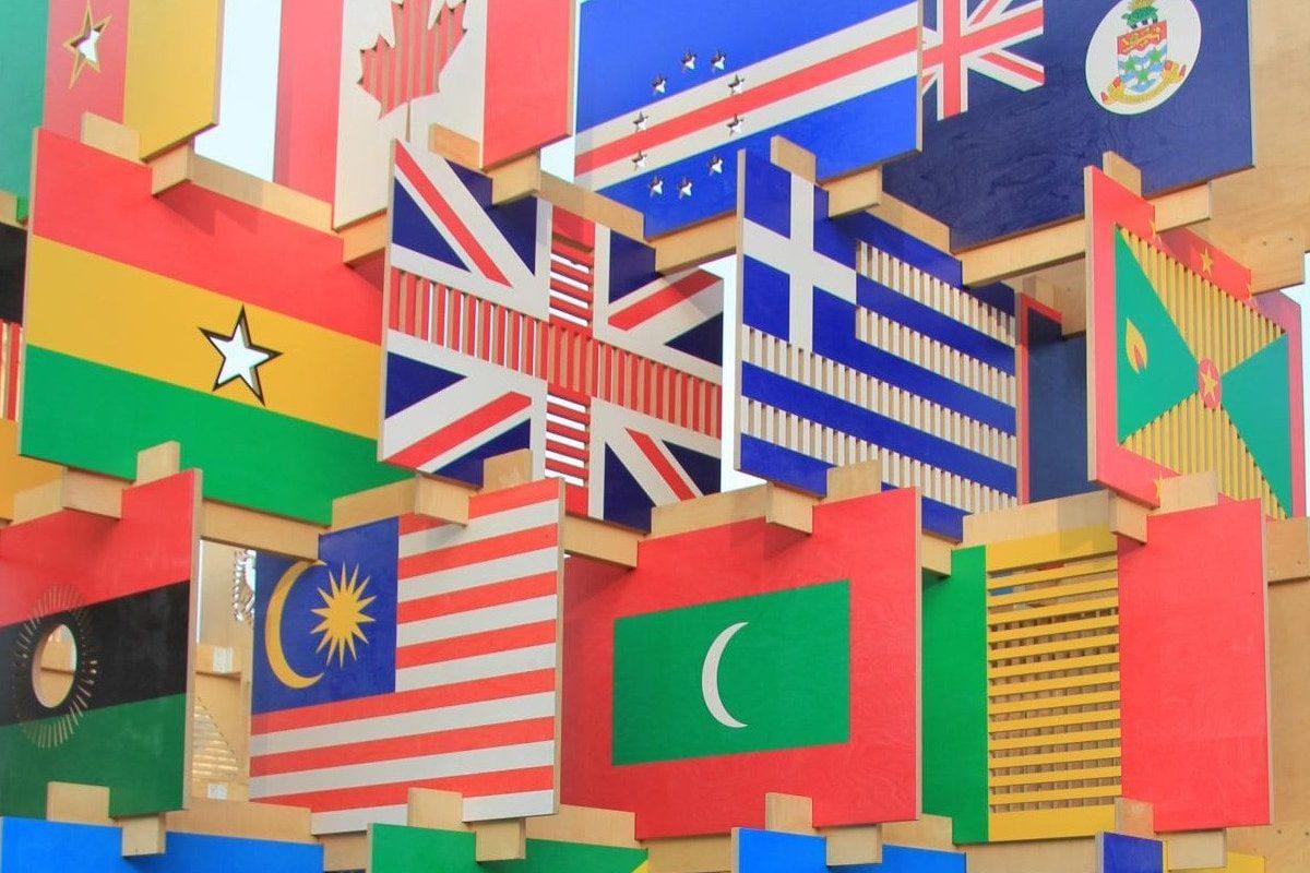 Flags in London 11-08-2012, de Karen Roe