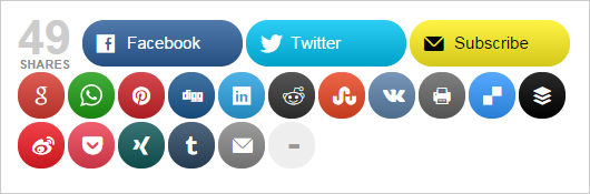 Botones de compartición