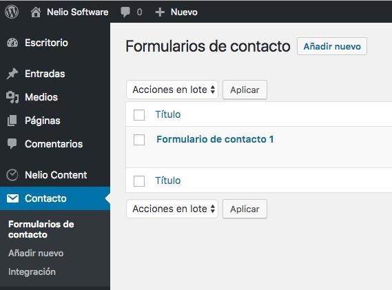 Configuración de los formularios de contactos en Contact Form 7
