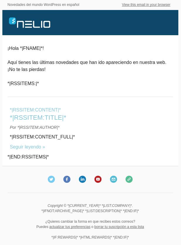 Configuración de Newsletter en Mailchimp