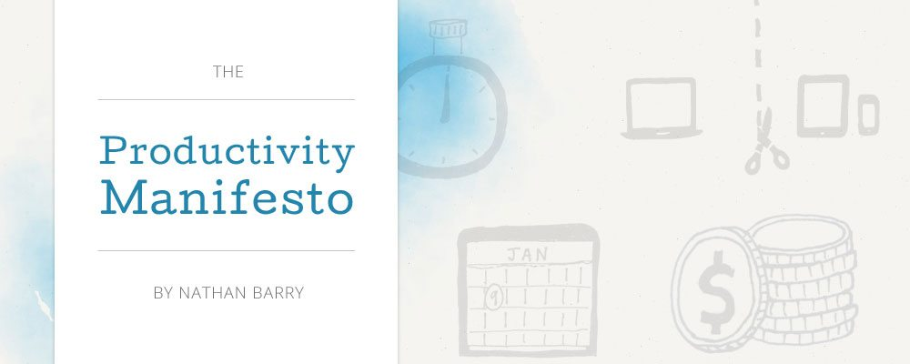 Productivity Manifesto de Nathan Barry