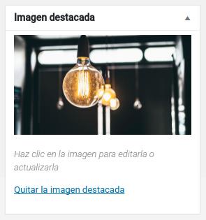 Caja para insertar imágenes destacadas