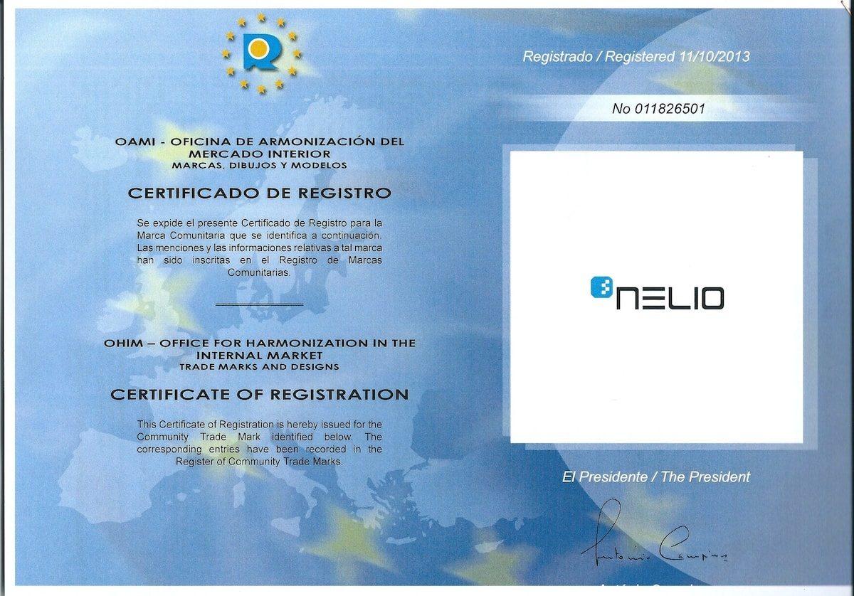 Marca registrada Nelio