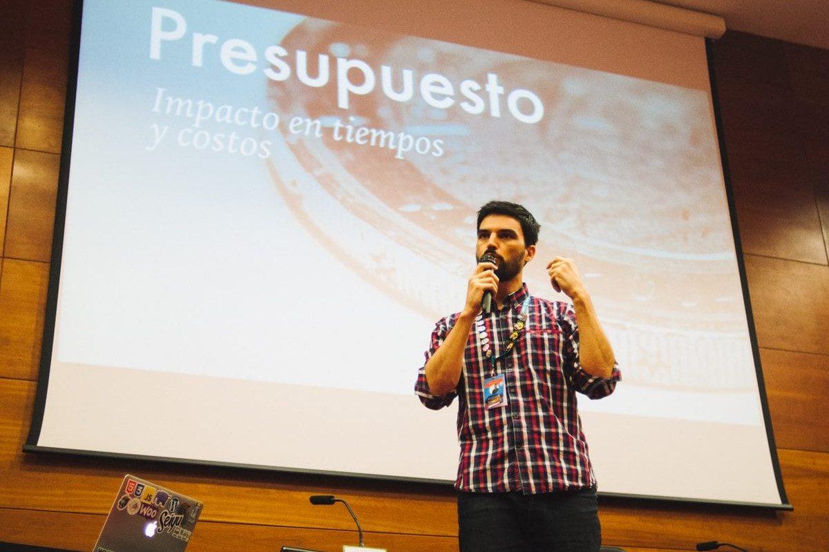 Mauricio Gelves en la WordCamp Sevilla