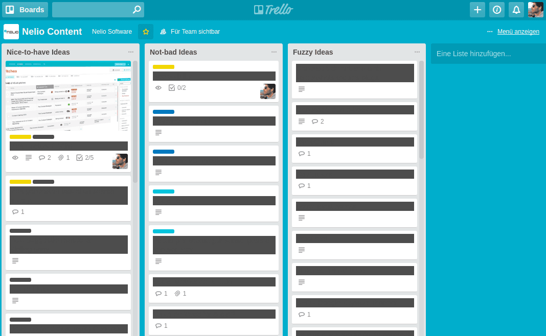 Guardar ideas en Trello