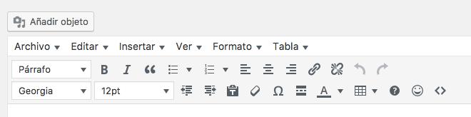 Botones añadidos al editor visual