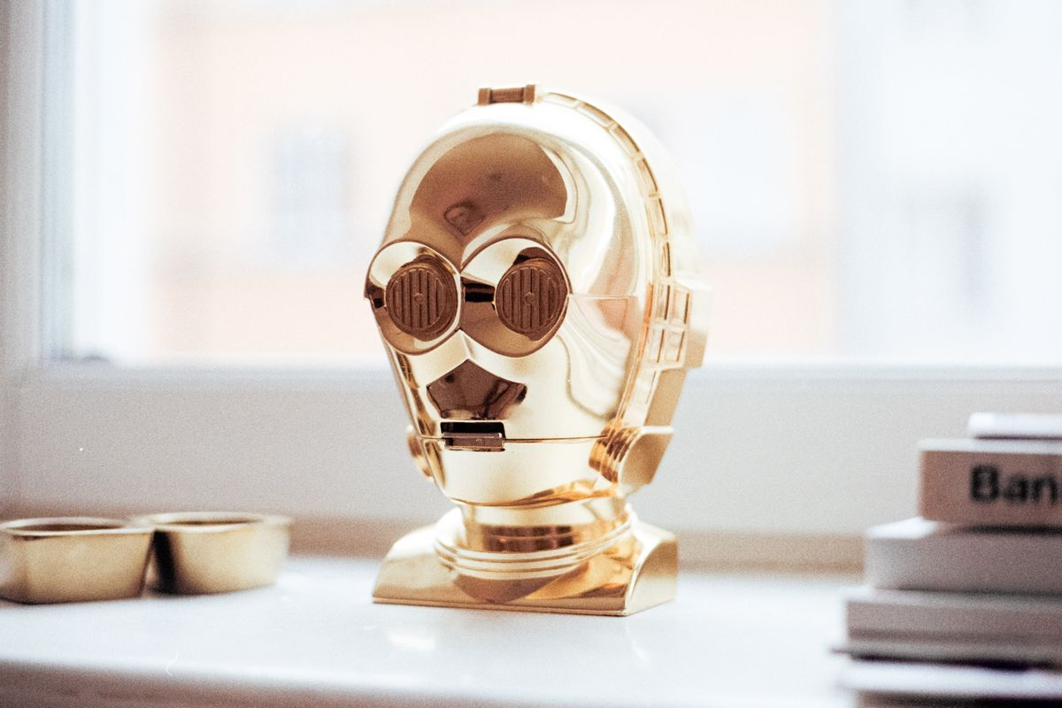 Gold, toy, c3po, window sill and star wars HD. Imagen de Jens Johnsson