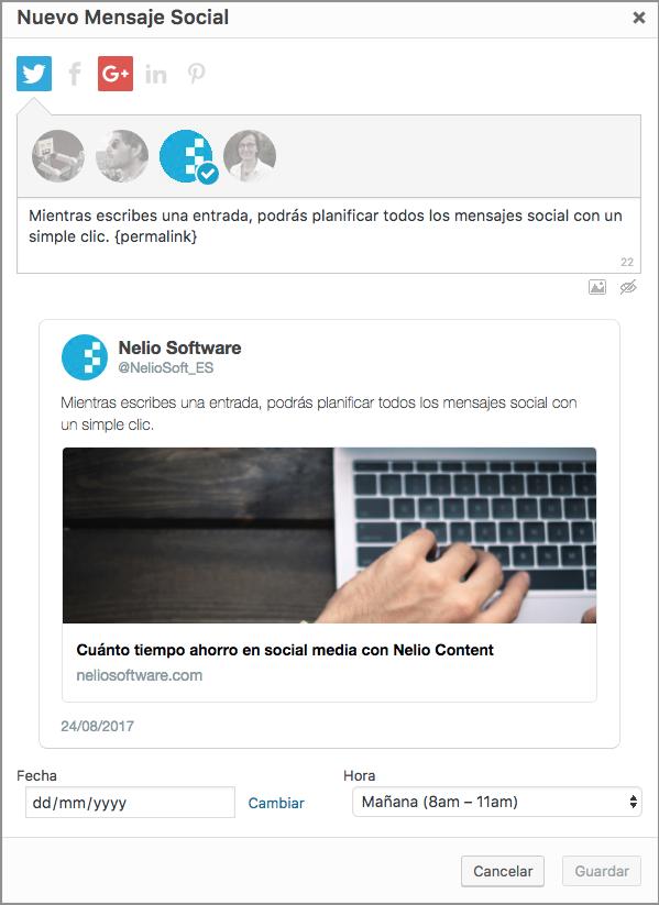 Crear mensaje social