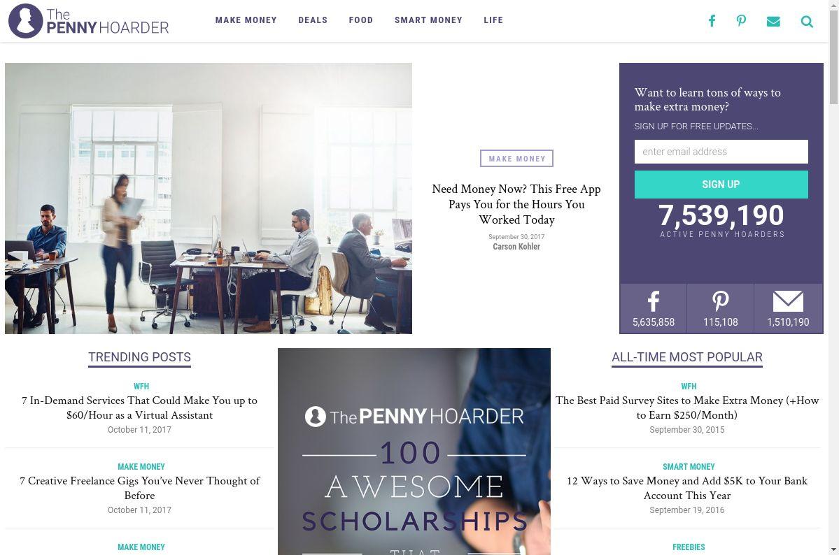 Web de The Penny Hoarder