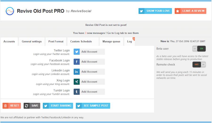 El plugin 'Revive Old Post' vuelve a compartir tus entradas antiguas en redes sociales.